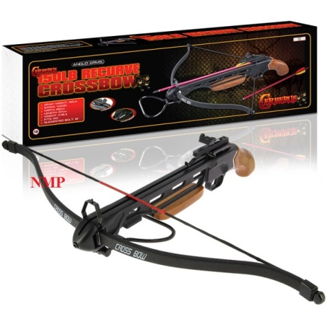 150lb Cerberus (GRIM REAPER) Wooden 'Short Stock' Recurve Crossbow Set (150-A1H)