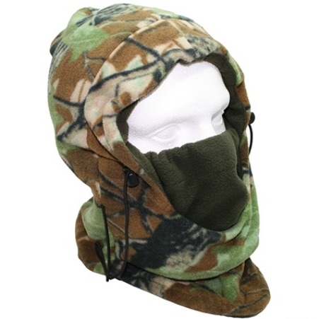 Deluxe Camo Snood with Face Guard (500)