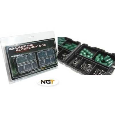 Carp Rig Accessories Kit in Box 100pc (Small)