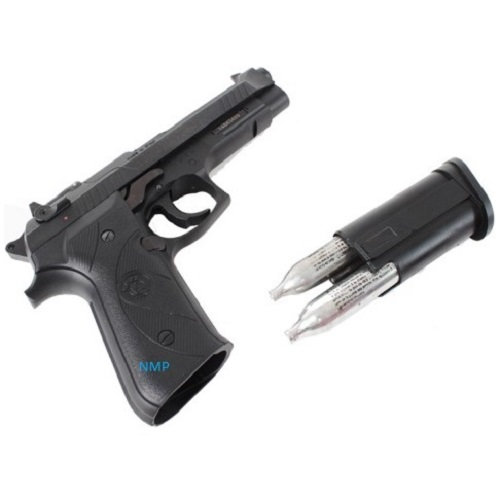 Chiappa AG92 Black 2 x 12g co2 Air Pistol .177 Polymer None-Blowback ( 14 shot pellet ) in Black Pistol Case