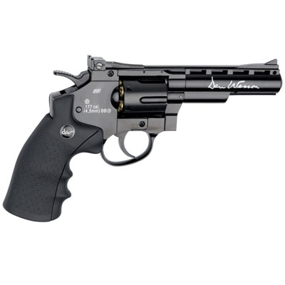 "ASG Dan Wesson 4"" Barrel  Gloss Black 12g CO2 AIR PISTOL Fires 4.5 mm BB'S (ASGP17176) ( 6 shot BB )"