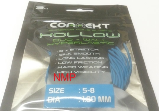 3M Connekt Hollow Duo Wall Pole Fishing Elastic 3 Metres For Top Kits ( Blue Size 5 - 8  Dia 1.80mm )