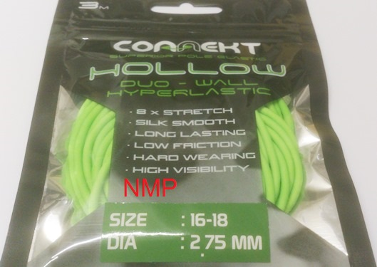 3M Connekt Hollow Duo Wall Pole Fishing Elastic 3 Metres For Top Kits ( Green Size 16 - 18  Dia 2.75mm )