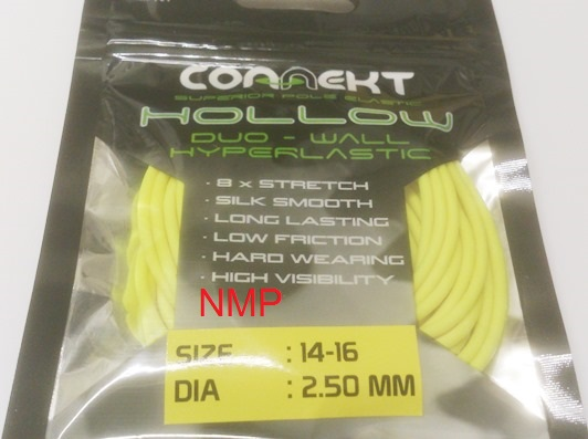 3M Connekt Hollow Duo Wall Pole Fishing Elastic 3 Metres For Top Kits ( Yellow Size 14 - 16  Dia 2.50mm )