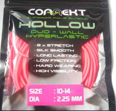 3M Connekt Hollow Duo Wall Pole Fishing Elastic 3 Metres For Top Kits ( Pink Size 10 - 14  Dia 2.25mm )