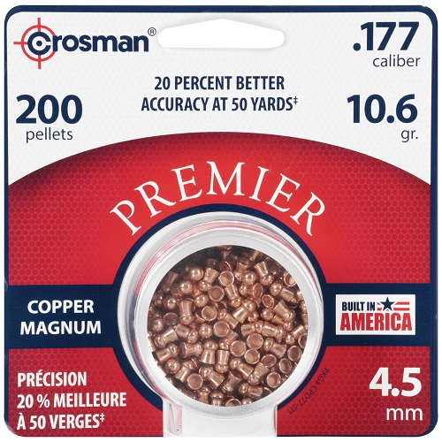 Crosman Copper Magnum Domed Airgun Pellet .177 Caliber 10.6 Grain tin of 200