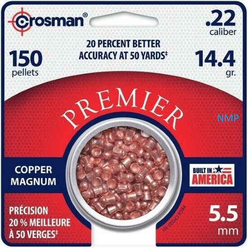 Crosman Copper Magnum Domed Airgun Pellet .22 Caliber 14.4 Grain tin of 150 x 10 tins