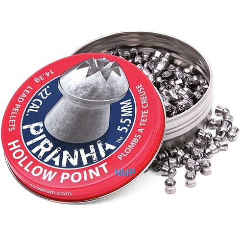 Crosman Premier Piranha Hollow point .22 calibre 5.5mm 14.39 Grains tin of 400