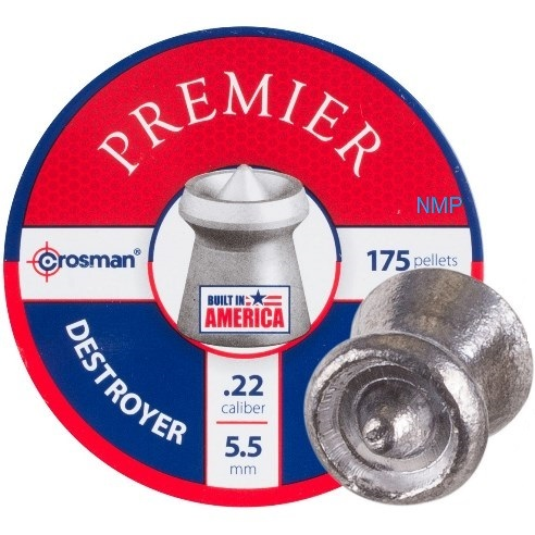 Crosman Premier Destroyer Hollow Pointed Expanding Pellets .22 Calibre 14.3 Grains tin of 175