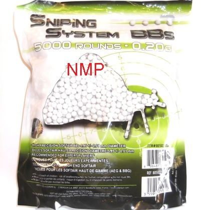 0.20g Cybergun Sniping System Precision 6mm Airsoft BB's bag of 5,000