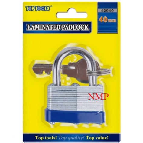 40MM LAMINATED PADLOCK TOP TOOLS