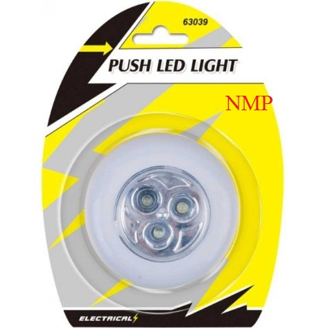 PUSH LED LIGHT WITH ADHESIVE BACKING
