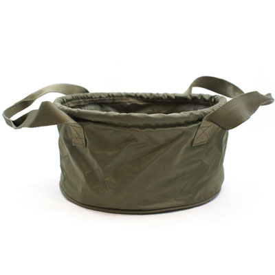 "DELUXE 12"" OLIVE GREEN GROUNDBAIT BOWL WITH HANDLES (011)"