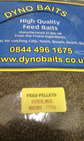 STICK MIX FLAVOUR FEEDER PELLETS ( MICRO ) ( DYNO BAITS ) 750g bag