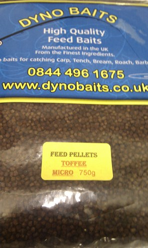 TOFFEE FLAVOUR FEEDER PELLETS ( MICRO ) ( DYNO BAITS ) 750g bag