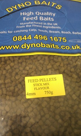 STICK MIX FLAVOUR FEEDER PELLETS ( 4mm ) ( DYNO BAITS ) 750g bag