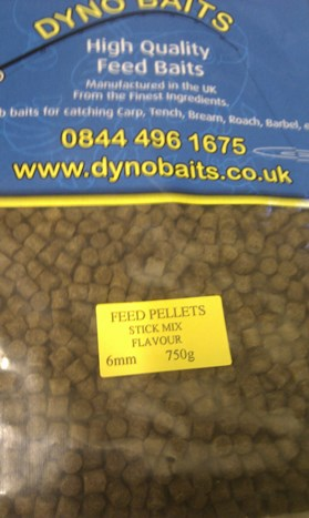 STICK MIX FLAVOUR FEEDER PELLETS ( 6mm ) ( DYNO BAITS ) 750g bag