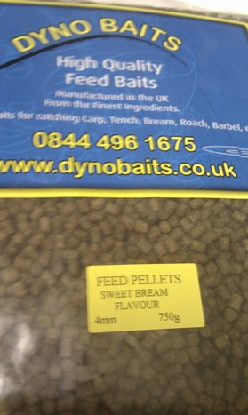 SWEET BREAM FLAVOUR FEEDER PELLETS ( 4mm ) ( DYNO BAITS ) 750g bag