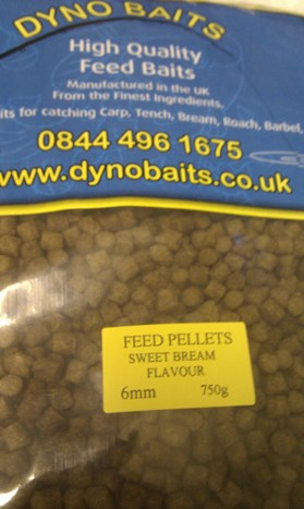 SWEET BREAM FLAVOUR FEEDER PELLETS ( 6mm ) ( DYNO BAITS ) 750g bag