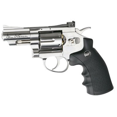 "ASG Dan Wesson .177 Lead Pellet CO2 Pistol 2.5"" Barrel Silver Revolver ( 6 shot Pellet ) Sold as seen (Ex Demo stock collected from store and paid in cash) Ex Demo"