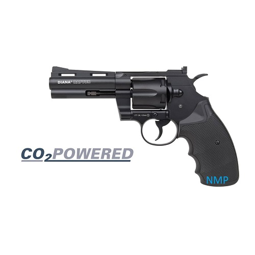 Diana Raptor 4 inch CO2 Air Pistol Revolver Black 4.5mm BB 8 shot
