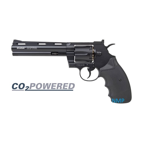 Diana Raptor 6 inch CO2 Air Pistol Revolver Black 4.5mm BB 8 shot