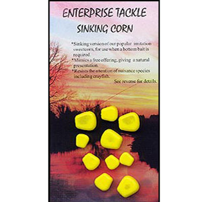Enterprise Tackle (ARTIFICIAL / IMITATION BAITS:)  Sweetcorn SINKING ( YELLOW ) mixed sizes