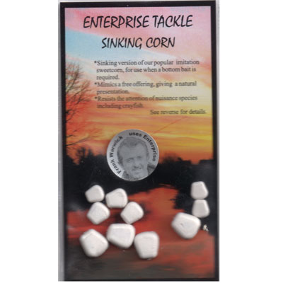 Enterprise Tackle (ARTIFICIAL / IMITATION BAITS:)  Sweetcorn SINKING ( WHITE ) mixed sizes