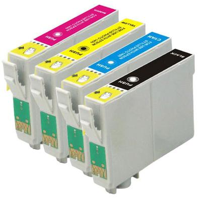 Epson T1295 Compatible Cartridges Full Set ( Black T1291, Cyan T1292, Magenta T1293, Yellow T1294 ) High Capacity (Apple Series)