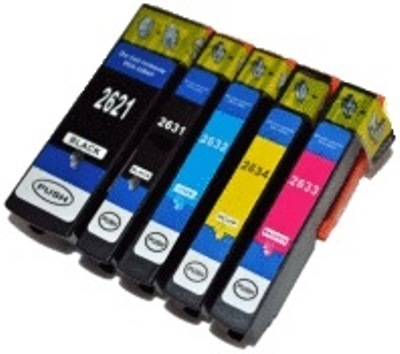 Epson T2636 Compatible Printer Ink Cartridges ( Black T2631, Photo Black T2621, Cyan T2632, Magenta T2633, Yellow T2634 ) High Capacity (Polar Bear XL or 26XL) 1 Full Set