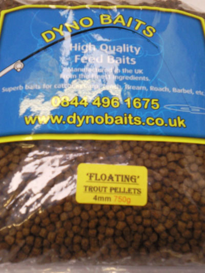 TROUT PELLETS Expander Floating  4mm ( DYNO BAITS ) 750g