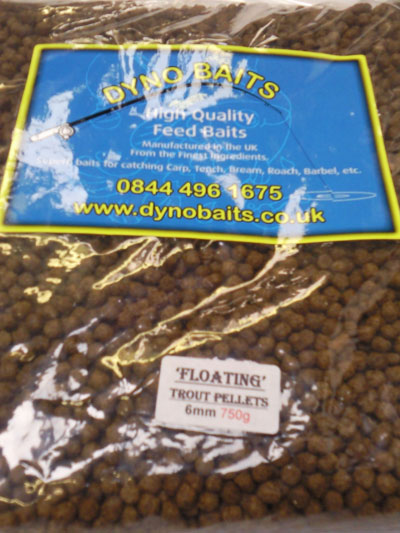 TROUT PELLETS Expander Floating  6mm ( DYNO BAITS ) 750g