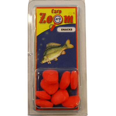 Carp Zoom PACK OF 8 SINGLE MAXI 'STRAWBERRY' RED ARTIFICIAL CORN (CZ0706)