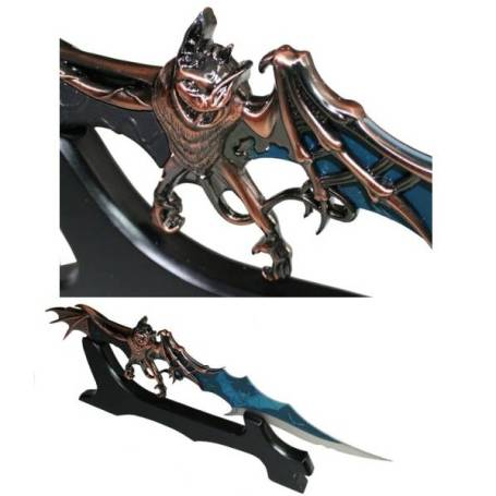 Fantasy Bat Dagger on Stand (108120-70)