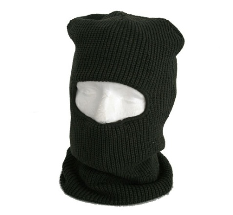 Fleece Lined Balaklava with Eye Portal  Black