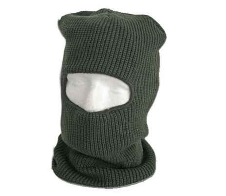 Fleece Lined Balaklava with Eye Portal Green