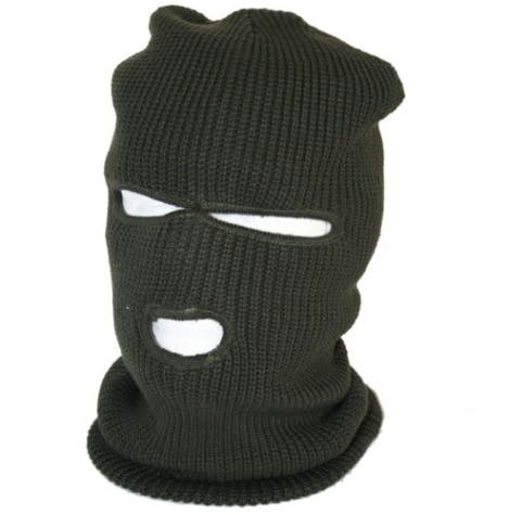 Fleece Lined Balaklava with Eye and Nose Portal Green