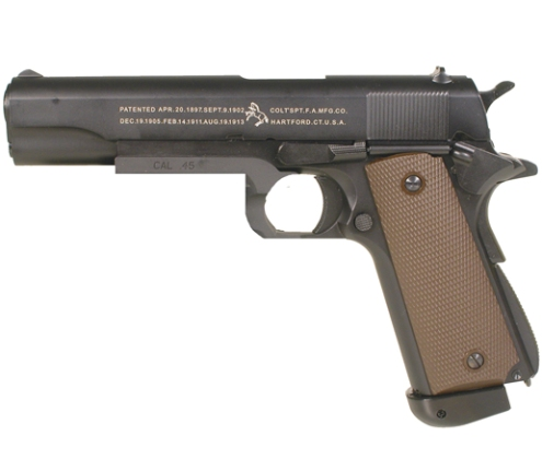 6MM AIRSOFT Pistol Colt 1911 A1 (KJW) FULL METAL blowback ( Gas powered ) 6mm BB ( SP180505 )