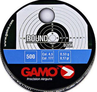 Gamo Round Air Gun Lead BBs .177 (4.5mm) Tin of 500