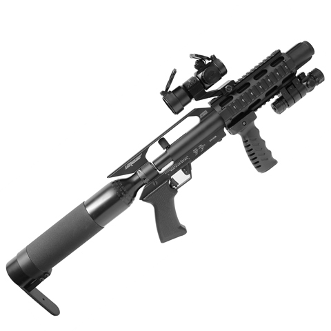 Gunpower Stealth ll PCP Air Rifle .22 PCP Pre-charged Air Rifle (with Tac 2 Rail, Silencer and Fill Adaptor) complete kit