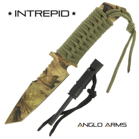 Intrepid - Fixed Blade with Firestarter + Whistle in Camo