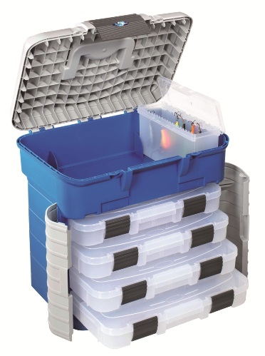 Ultimate Accessory 4 Tray Tackle Box Seat ( J25 ) BLUE ( only While stock last )