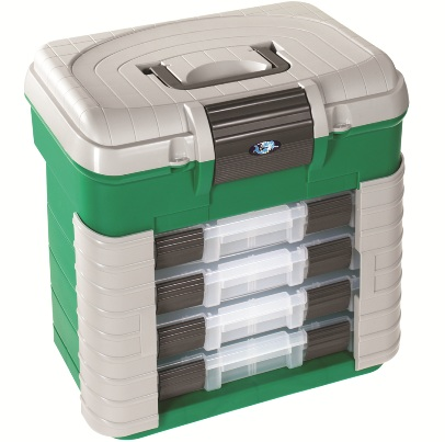 Ultimate Accessory 4 Tray Tackle Box Seat ( J25 ) GREEN ( only While stock last )