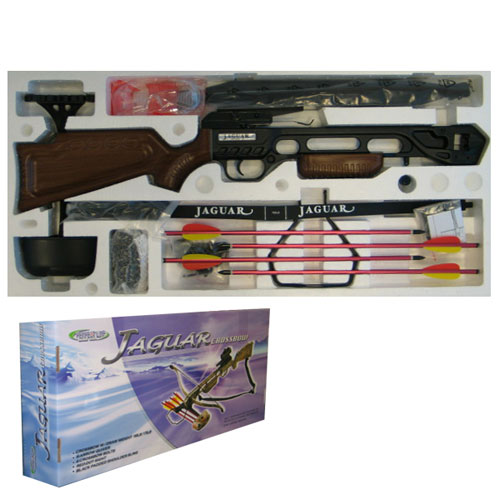 175lb JAGUAR Wood Effect Recurve Crossbow KIT With Red Dot Sight (CB-013WA)