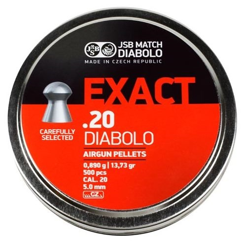 JSB Exact Pellets 5.1mm .20 Calibre 13.73 grain Tin of 500 x 5 tins
