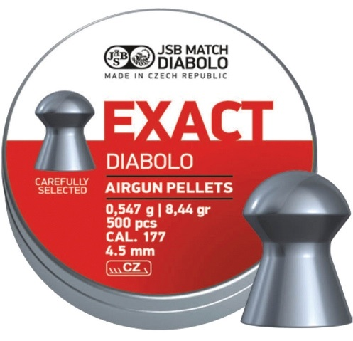 JSB Exact Pellets 4.53mm .177 Calibre 8.44 grain Tin of 500