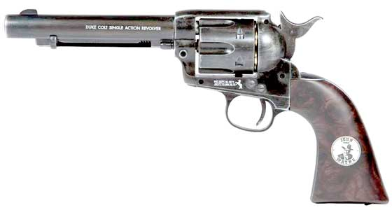 Colt Peacemaker Duke .177 Calibre Pellet Duke John Wayne Signature edition Antique Weathered Look