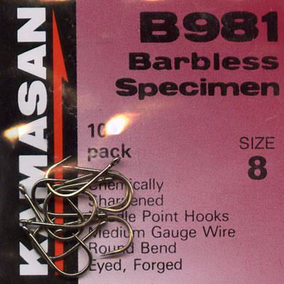 Kamasan B981 Barbless Specimen Hook Size 8
