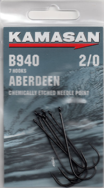 KAMASAN B940 CLASSIC ABERDEEN SEA HOOK SIZE 2/0 ( pack of 7 hooks )