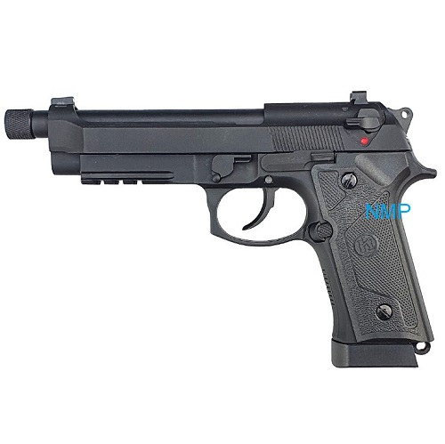 KLI M92 Co2 Blowback Pistol with Compensator and Rail 4.5mm BB Black